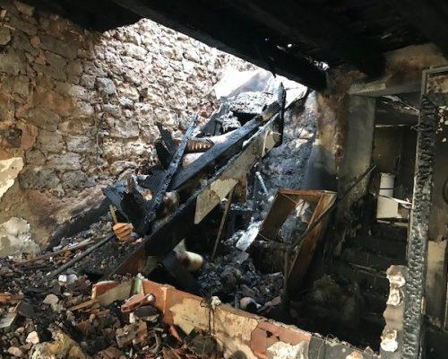 Incendie dans un logement de fonction